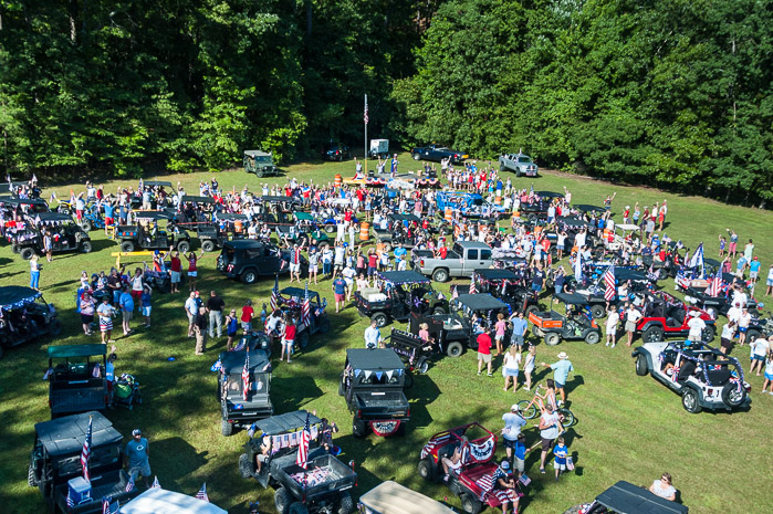 A large crowd celebrates July 4, 2014, at Mountain Harbor.